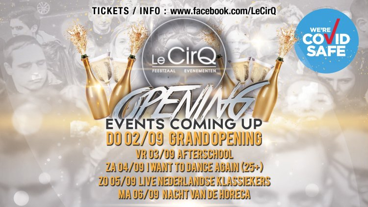 Events Coming up @ Le CirQ